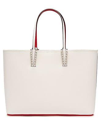 eb85b05a25a8 Christian Louboutin Cabata Spike Embellished Leather Tote - Womens - White