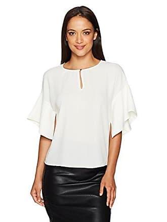 3d7b0004984d89 Ellen Tracy Womens Handkerchief Sleeve Top, el/Cream, Petite X-Small