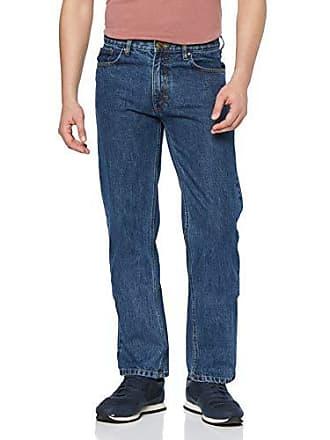 c099edd9a0d61f Oklahoma Jeans Herren Straight Jeans R140 Blau (Stone Wash 005) W33 L34 (