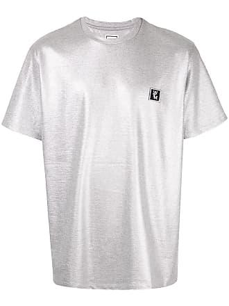 Wooyoungmi Camiseta com logo bordado - Prateado