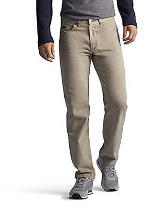 Lee Mens Regular Fit Straight Leg Jean, Wheat, 31W x 29L