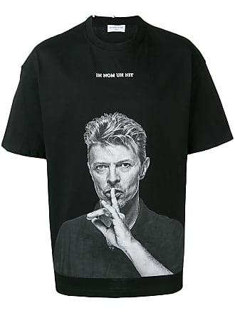 Ih Nom Uh Nit Bowie Silence print T-shirt - Black