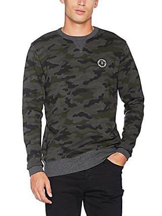 a12cd2ad7f95 Le Temps Des Cerises HJOURDAIN0000ML Sweat-Shirt Homme Vert (Camo) Medium  (Taille