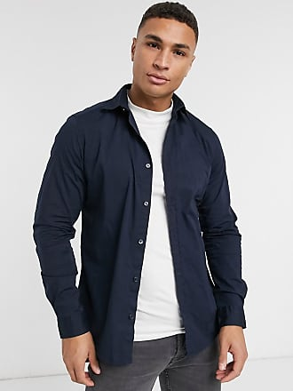 Esprit Camicia slim elasticizzata blu navy