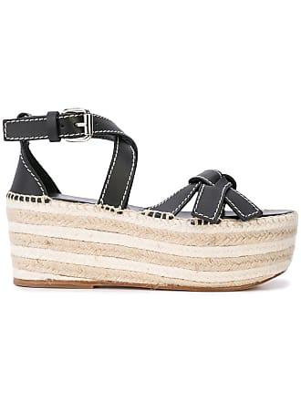Loewe Gate wedge sandals - Black