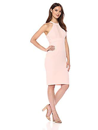 BCBGeneration Womens Chiffon Contrast Dress, Rose Smoke, 0