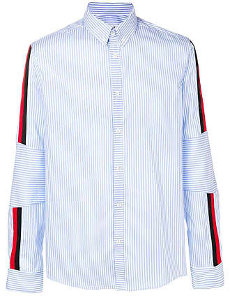 Les Hommes striped button down shirt - Azul