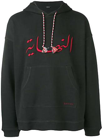 Qasimi embroidered hoodie - Black