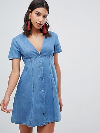 Asos Vestito da giorno di jeans lavaggio blu medio