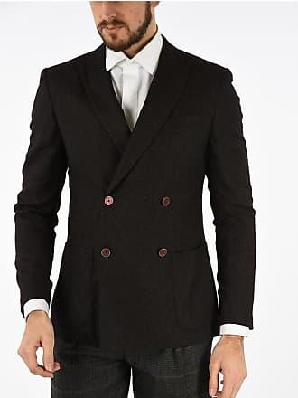 Corneliani CC COLLECTION giacca doppiopetto pin check due spacchi taglia 48