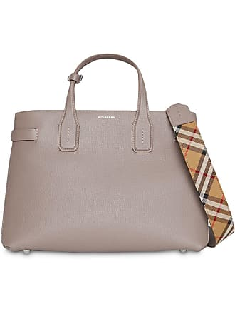 c3c72a3c35d1 Burberry The Medium Banner in Leather and Vintage Check - Neutrals