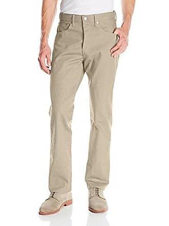 Levi's Mens 501 Original Shrink-to-Fit Jeans, Khaki, 33WX30L