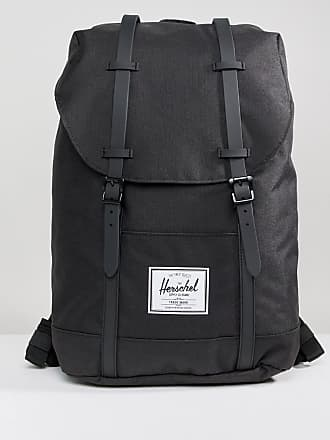 f1f865208054 Herschel Retreat Backpack in Black with Rubberised Straps