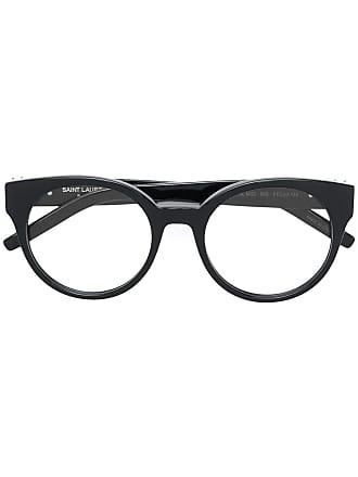 Saint Laurent Eyewear round frame glasses - Preto