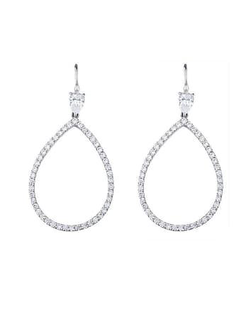 Fantasia Sterling Silver Open Pearshape Drop Earrings