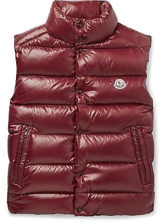 91e00c9e7e393e Moncler Tib Slim-fit Quilted Shell Down Gilet - Burgundy