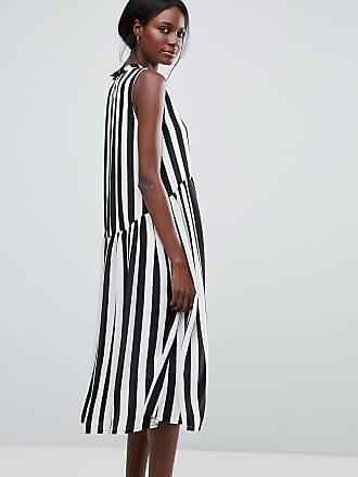 b8989fdb6070a6 Y.A.S High Neck Stripe Midi Dress - Multi