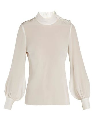 7546bea672ff7 Goat Georgie Silk Crepe De Chine Blouse - Womens - Cream