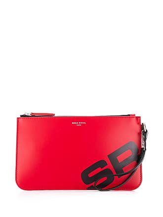 Sonia Rykiel logo clutch - Vermelho