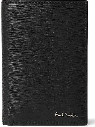 Paul Smith Colour-block Textured-leather Bifold Cardholder - Black