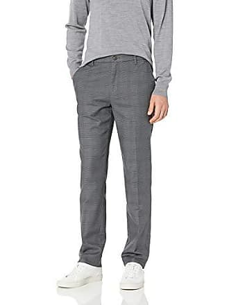 Goodthreads Mens Athletic-Fit Wrinkle Free Dress Chino Pant, Grey Glen Plaid, 34W x 28L