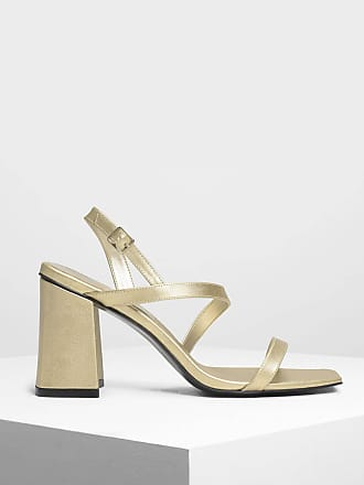 Charles & Keith Asymmetrical Strap Heeled Sandals