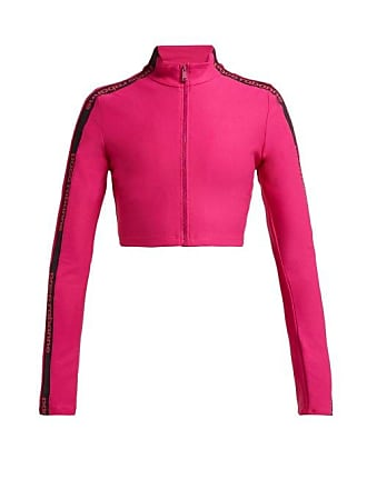 Paco Rabanne Logo Technical Stretch Jersey Cropped Jacket - Womens - Pink