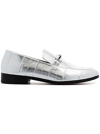 7ce498fd607 Newbark silver metallic melanie leather loafers
