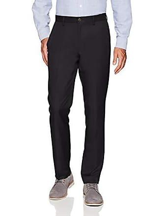Amazon Essentials Mens Slim-Fit Flat-Front Dress Pants, Black, 35W x 29L