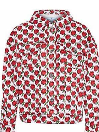ff10afc45657 Prada Prada Woman Printed Denim Jacket Red Size 38