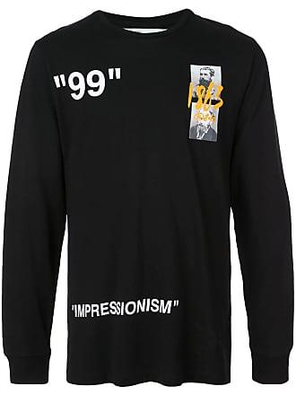 a02de84e2f Off-white Camiseta mangas longas - Preto