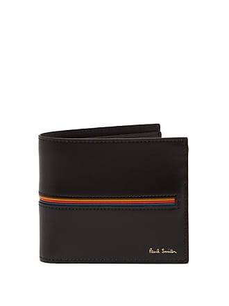 Paul Smith Signature Stripe Bi Fold Leather Wallet - Mens - Black