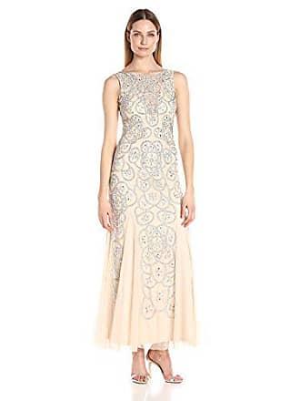 99f43d3e26b Aidan Mattox Aidan Womens Beaded Illusion Gown