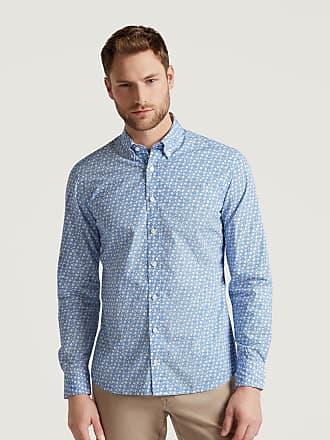 Hackett Mens Floral Print Poplin Cotton Shirt   Medium   Sky/Blue