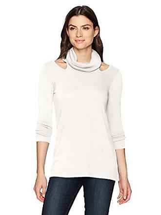Karen Kane Womens Cut-Out Cowl Neck Sweater, Cream, XS