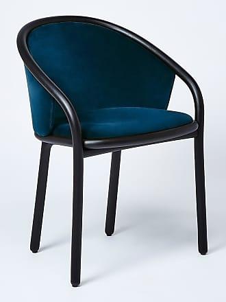 The Conran Shop Latis Chair in Black Ash & Duro Velvet Upholstery