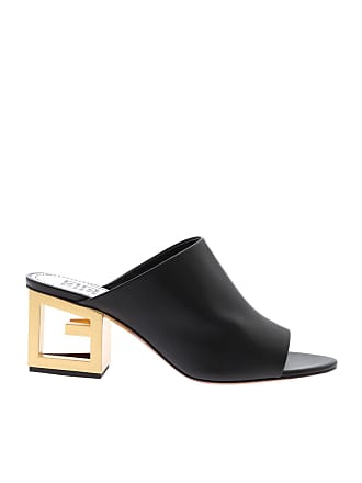 f72ee5a68cb Givenchy Triangle open-toe mules with golden heel