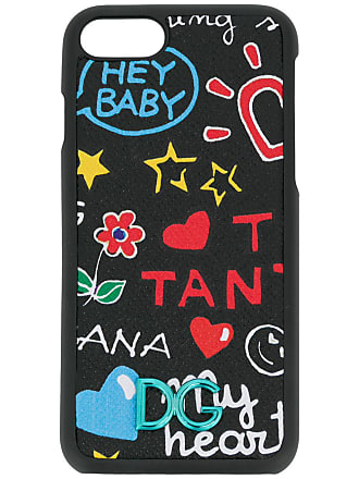 Dolce & Gabbana Capa para iPhone 7 estampada - Preto