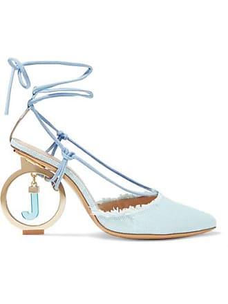 Jacquemus Riviera Frayed Cotton Pumps - Sky blue