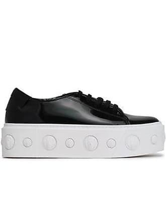 4ce61304ee28 Versus Versus Versace Woman Embellished Patent-leather Platform Sneakers  Black Size 40