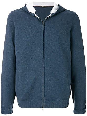 Loro Piana zipped hooded jacket - Blue
