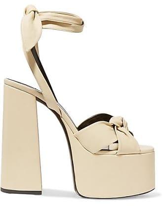 fb082e6ad846 Saint Laurent Paige Leather Platform Sandals - Cream