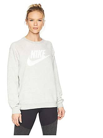 8b6c544d3f6d Nike Rally Crew HBR (Grey Heather White) Womens Long Sleeve Pullover