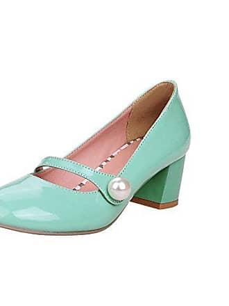b5d1e8f05f8b70 Mee Shoes Damen süß modern bequem Dicker Absatz mit falschen Perle runde  Geschlossen Blockabsatz Pumps Freizeitschuhe