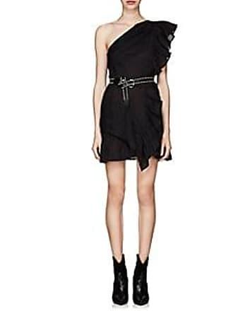 324d1ef34e Isabel Marant Womens Teller One-Shoulder Linen Dress - Black Size 34 FR