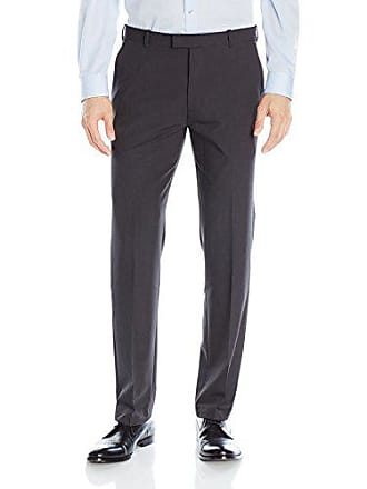 Van Heusen Mens Flex Straight Fit Flat Front Pant, Charcoal, 40W x 34L