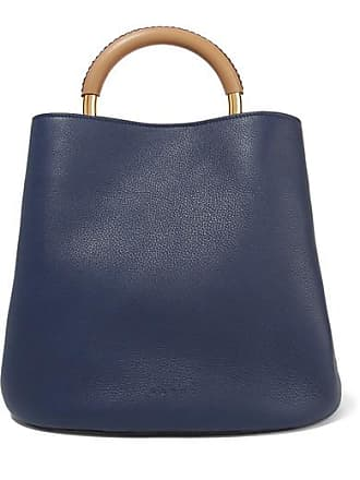 fe5fd5f29e20 Marni Pannier Large Textured-leather Tote - Navy