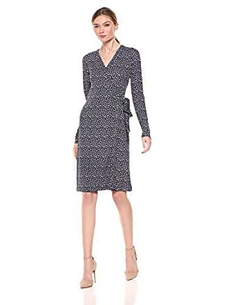 e72479c5a5 Lark   Ro Womens Signature Long Sleeve Wrap Dress