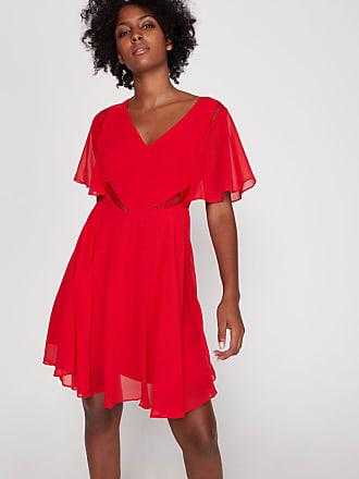 Robe longue de soirée dos nu rouge GUESS