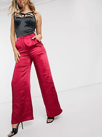 Unique21 Unique 21 wide leg trousers in red satin